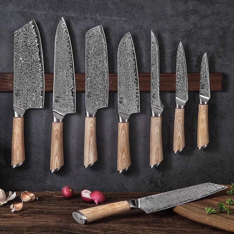 67-слойный стальной V Золотой 10 дамасский кухонный нож, ножи шеф-повара, Gyuto сантоку, мясник, для очистки стейка, нарезка, для обвалки, семги