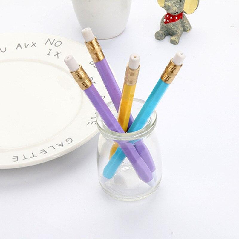 50 lápiz de la PC forma Simple apariencia fresca azul bolígrafo estudiante creativo novedad bolígrafos para escribir artículos de papelería
