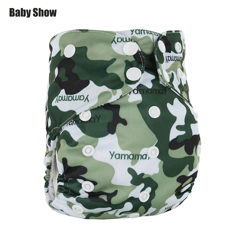 Baby show reusable diaper Adjustable cloth diapers Baby washable leak-proof diapers with two diapers inside Diapers for children