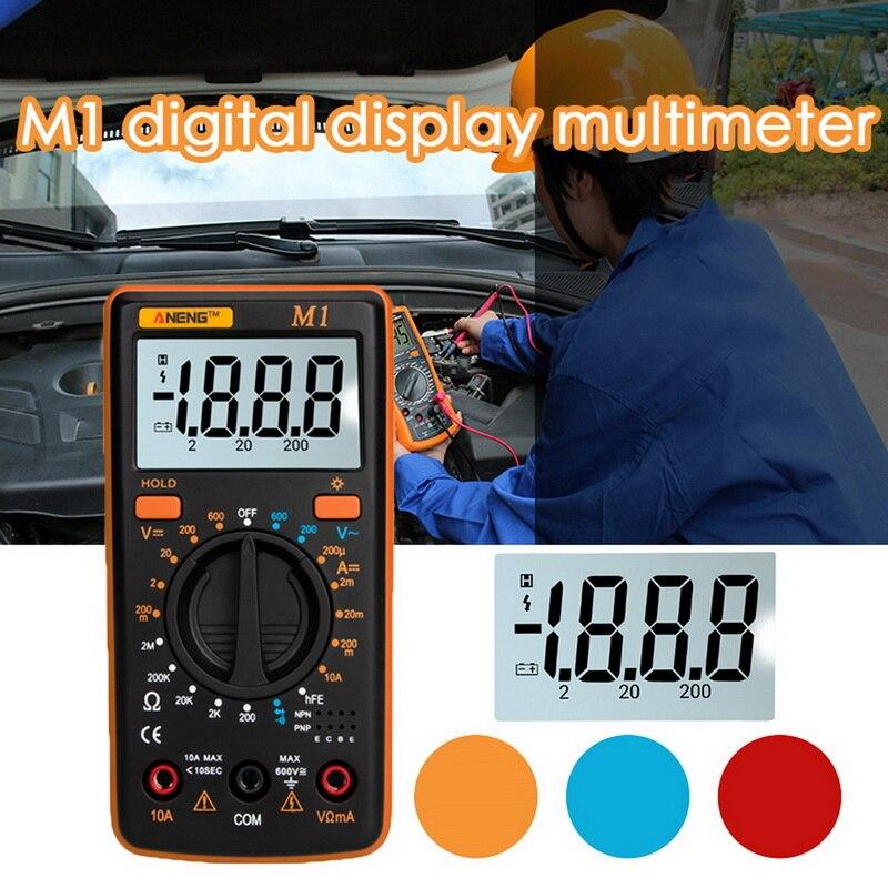 Multímetro Digital M1 A830L multímetro portátil probador de mano Multimetro Digital inteligente con cable de prueba pantalla Lcd grande