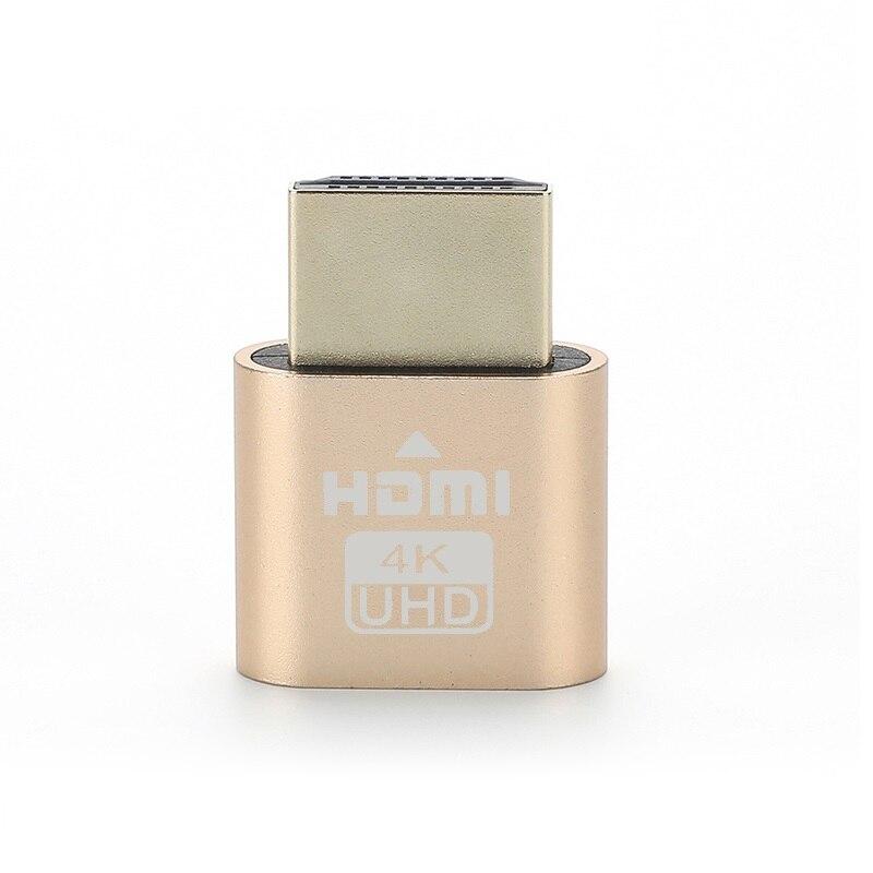 HDMI-Compatible HDMI Virtual Display Adapter 4K HDMI DDC EDID Dummy Plug Cheat Virtual Plug 3060 for Bitcoin ETF Mining