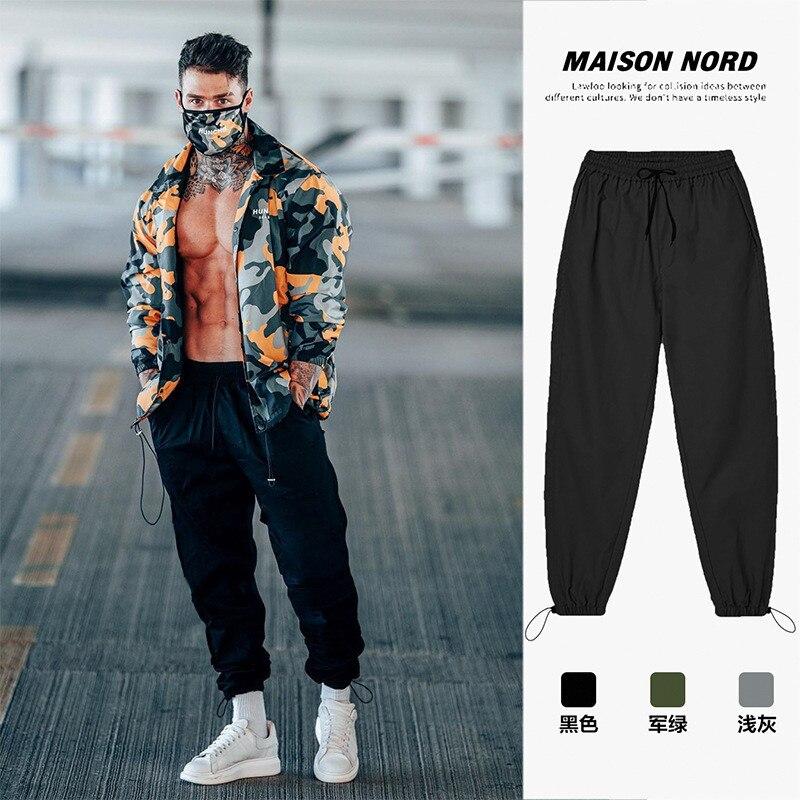 Pantalones de deporte del baloncesto para hombre... ropa de calle coreana... holgada......