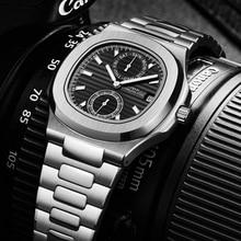 DIDUN New Watches Mens Luxury Brand Watch Men Waterproof Quartz Wristwatch Sports Chronograph Clock