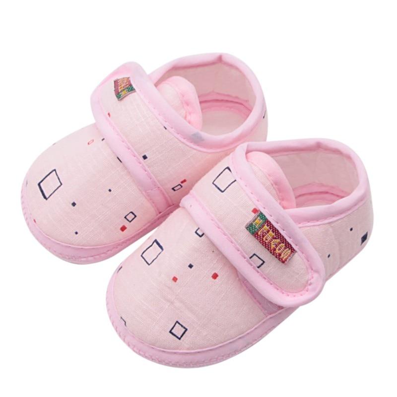 WEIXINBUY Newborn Baby Girl Shoes Cute Print Stitching Casual Princess Slipper 0-18 Months Toddler Shoes Newborn Baby Girl Shoe