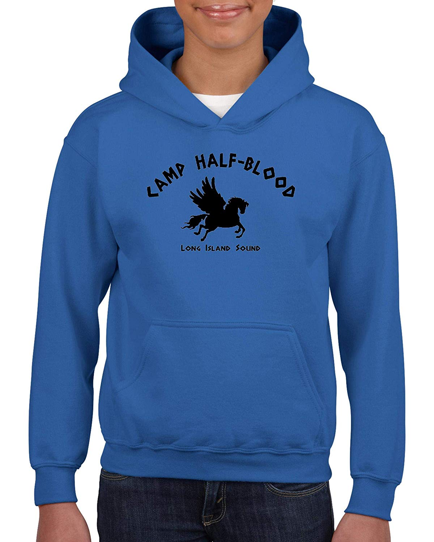 TSDFC Camp Half Blood Demigods Unisex Hoodie for Girls and Boys Youth Sweatshirt (SRB) Royal Blue Unisex men women hoodie
