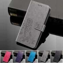 Flip Flower Phone Silicone Case for Vodafone Smart Prime 7 VDF600 N8 VDF610 Platinum 7 VDF900 V8 VDF710 X9 Wallet Leather Cover
