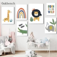 nursery wall art prints modern art paintings woodland animal canvas posters cartoons wall pictures baby kids room decoration