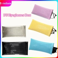 new sunglasses bag pu leather glass case pouch mobile phone wallet portable storage case candy color nearsighted glasses bag