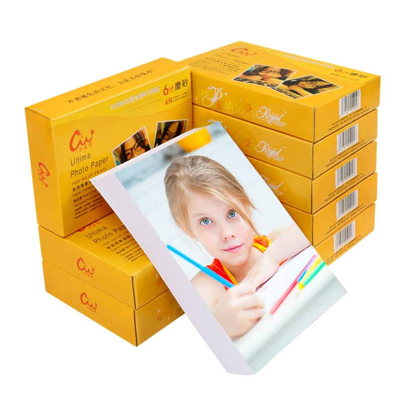 RC Photo Paper 6/5/7/10/12 inches A4/A6 Waterproof Suede Frosted Silk Photo Paper 240g260g270g Color Inkjet Printer Photo Paper