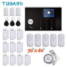 TUGARD WiFi 3G 4G GSM système dalarme de sécurité à domicile Tuya Kit dalarme antivol intelligent avec 433MHz détecteurs sans fil bras à distance et désarmer