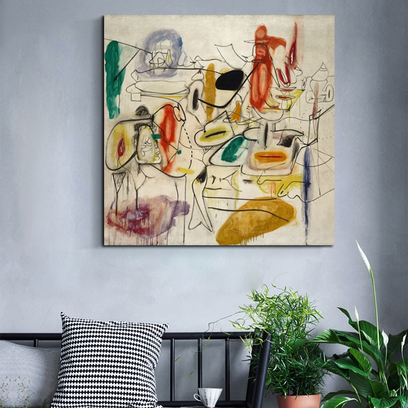 Arshile Gorky Abstract Painting Wall Art Canvas Posters Prints Modern Pictures For Living Room Home Decor