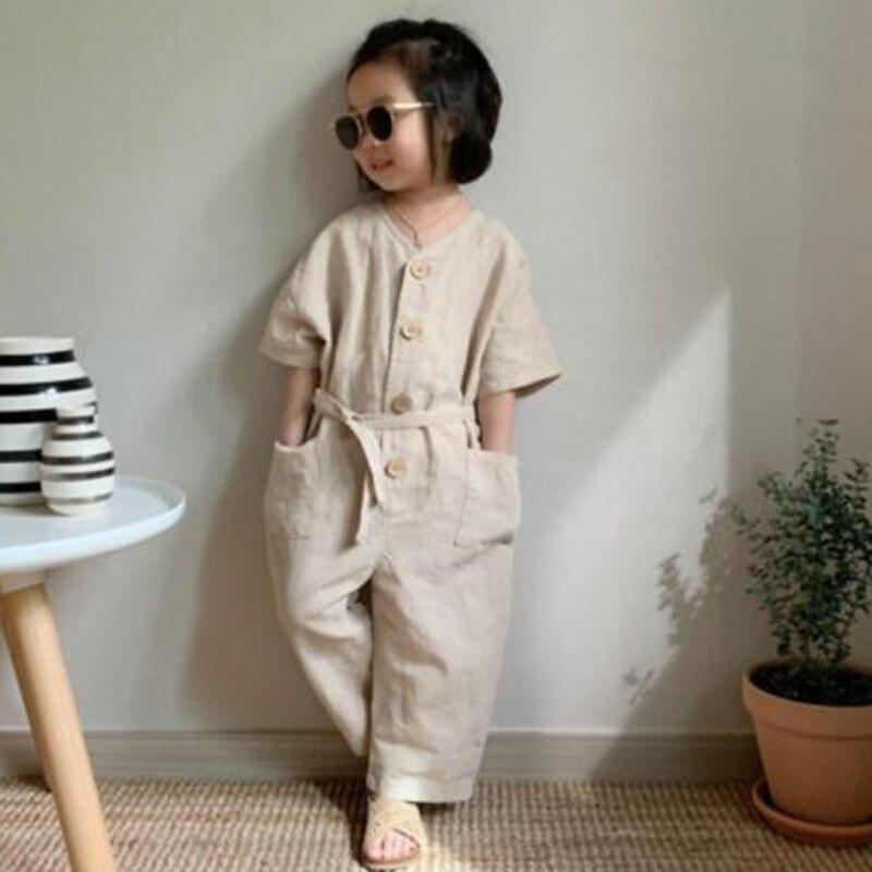 ¡Novedad de 2020! Pelele de una sola pieza de estilo coreano para niño niña, ropa de verano para niñas, monos de primavera y otoño para niños