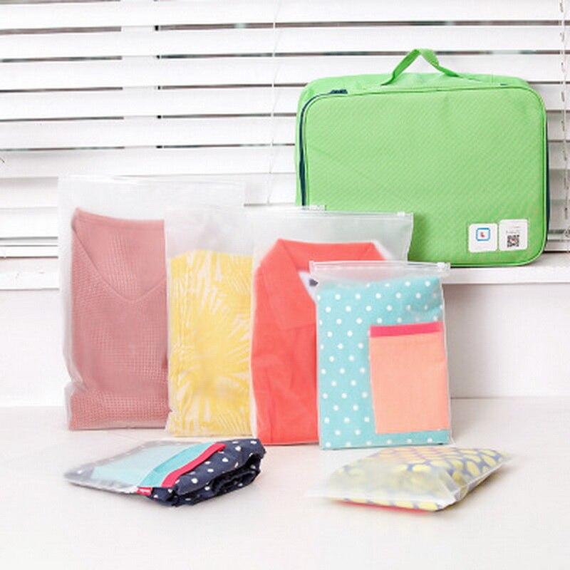 1 bolsa de plástico holgada, bolsa de almacenamiento de compresión para ropa, bolsas de embalaje al vacío de tamaño reducido de viaje, bolsas de equipaje, paquete al por menor, producto en oferta