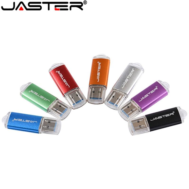 Unidad FLASH USB 2,0 JASTER, venta al por mayor, unidad flash usb de Metal, memoria USB, PenDrive usb de 32GB 16GB 8GB, unidad flash USB