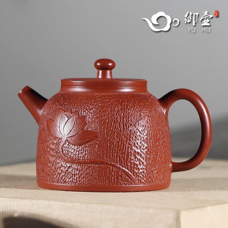Conjunto o Bule de Minério Recomendado Puro Manual Bola Buraco Kung fu Chá Despido Lama Dahongpao Buda Lótus Qin Quan Zhu
