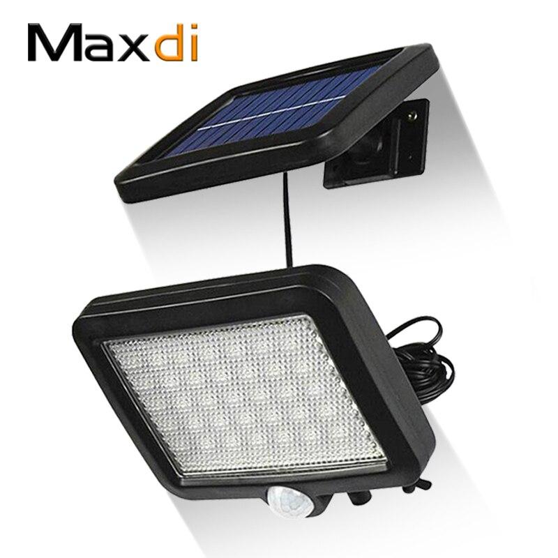 Luz Solar LED Maxdi, luz Solar para exteriores, luz de pared Sensor de movimiento del cuerpo humano, impermeable, decoración Solar para jardín