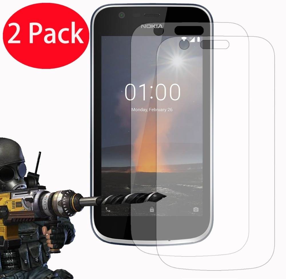 2pcs Screen Protector For Nokia 1 2018 TA-1066 TA-1047 Tempered Glass Protective Glass For Nokia 1 P