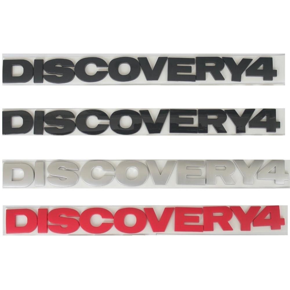 Negro rojo cromo plata letras DISCOVERY 4 tapa del maletero emblemas emblema insignia pegatina para DISCOVERY4