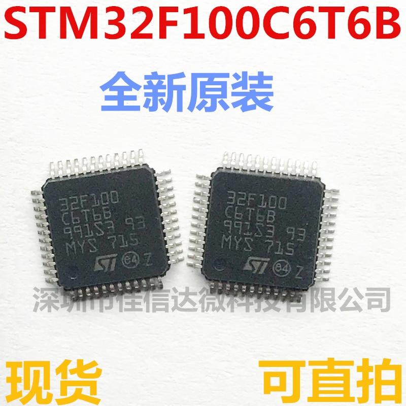 Em Estoque 100% Novo & original Hight Qualidade STM32F100C6T6B LQFP48 32 24MHz