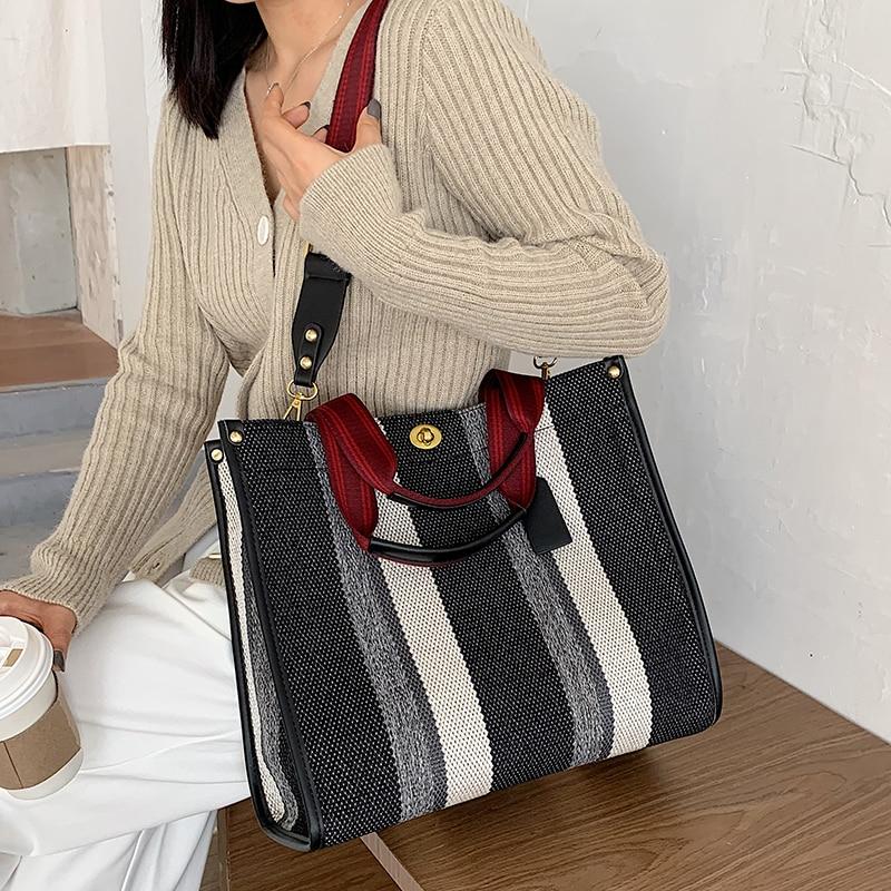 Canvas Women Canvas Handbags Shoulder Bags Large Capacity Ladies Crossbody Bags for Women Fashion Fe