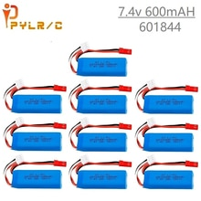1-10Pcs 7.4V 600mAh Lipo Battery for WLtoys K969 K979 K989 K999 P929 P939 RC Car Parts 2s 7.4v Batte