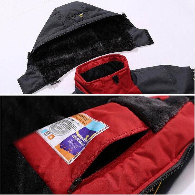 Winter Parka Men Windbreak Plus Velvet Thick Warm Windproof Fur Coats Male Military Hooded Anorak Jackets Men's Winter Jackets