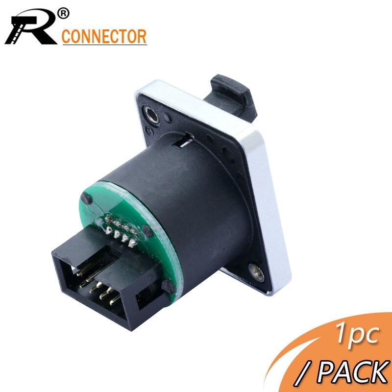 1pc droit RJ45 Module prise prise type de vis connecteur étanche montage sur panneau métal ethernet PCB réseau connecteur