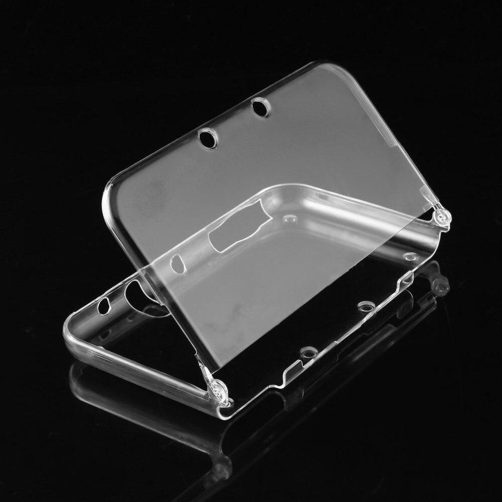 Capa de plástico rígido para nintendo, estojo protetor leve de cristal transparente para console 3ds xl/2ds xl e jogos