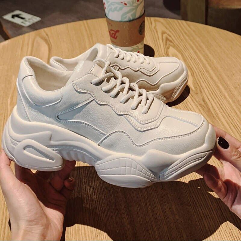 2021 New Summer Breathable Chunky Sneakers for Women Vulcanize Shoes Casual Fashion Dad Shoes Platfo