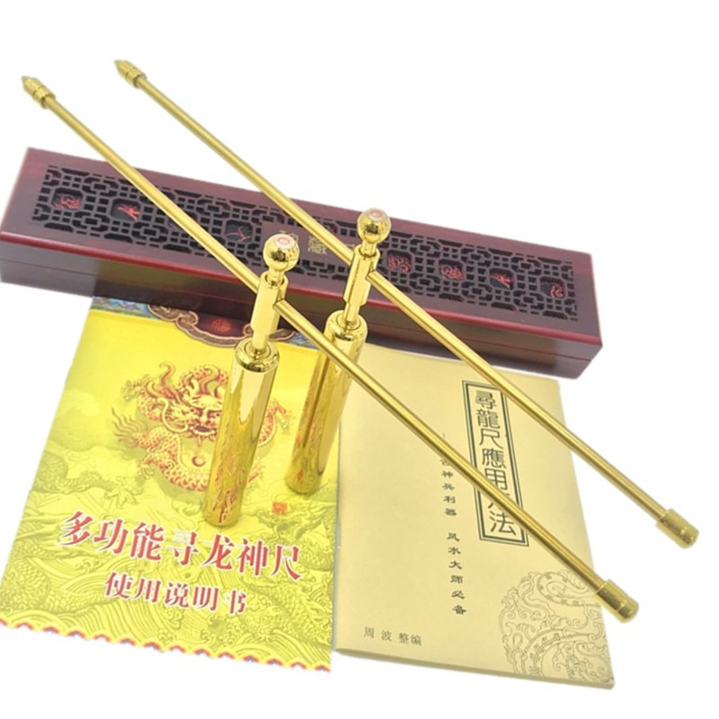 Spirit level to find the dragon ruler brass compass, energy probe, divination stick, special for finding the dragon and acupoint