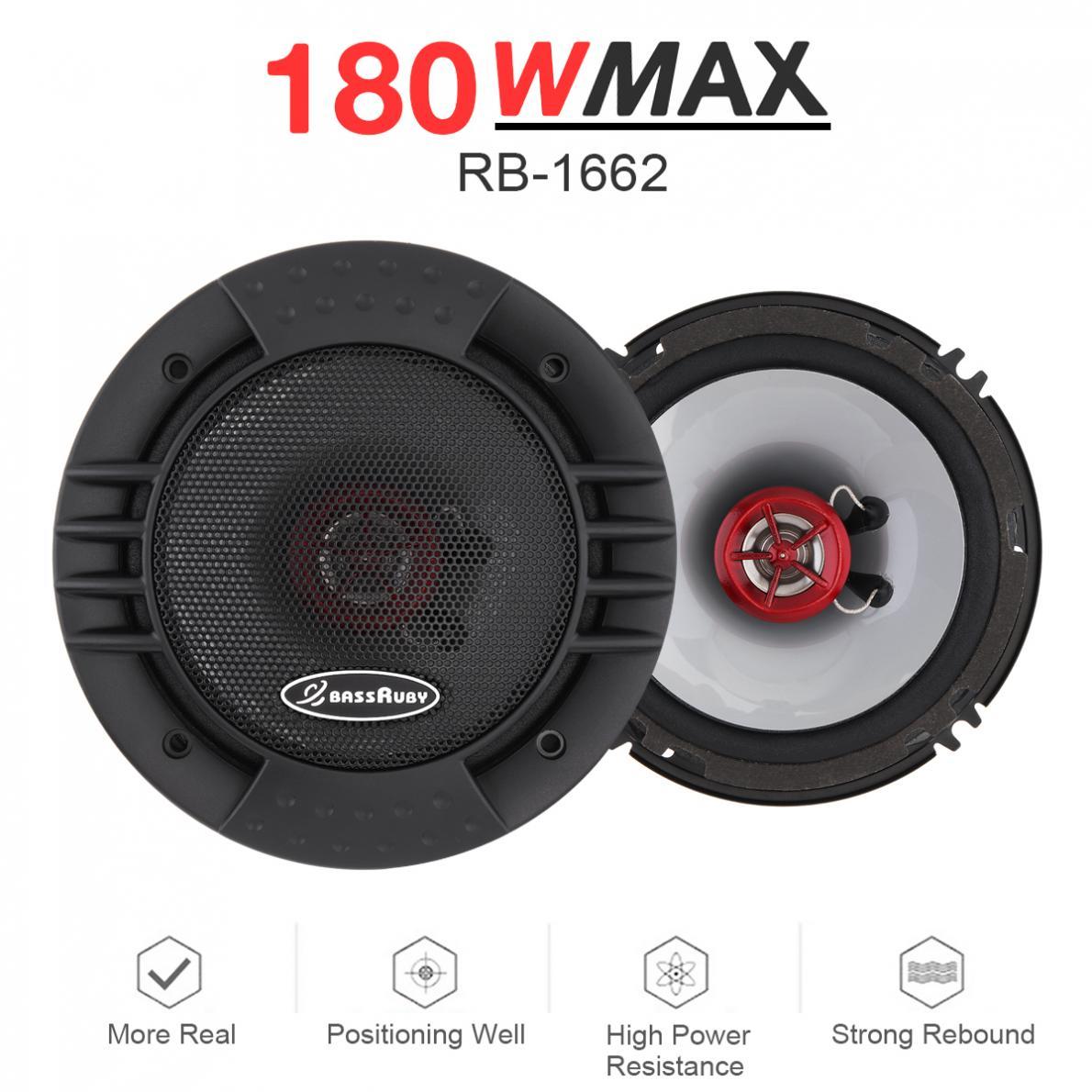 2pcs 6 Inch 2 Way Car Coaxial Speakers Universal Auto Audio Stereo Full Range Frequency HiFi Speaker Non-destructive