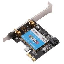 Carte réseau WIRCARD double bande 2.4G/5G 867Mbps + Bluetooth 4.1 carte sans fil PCIE pour ordinateur de bureau
