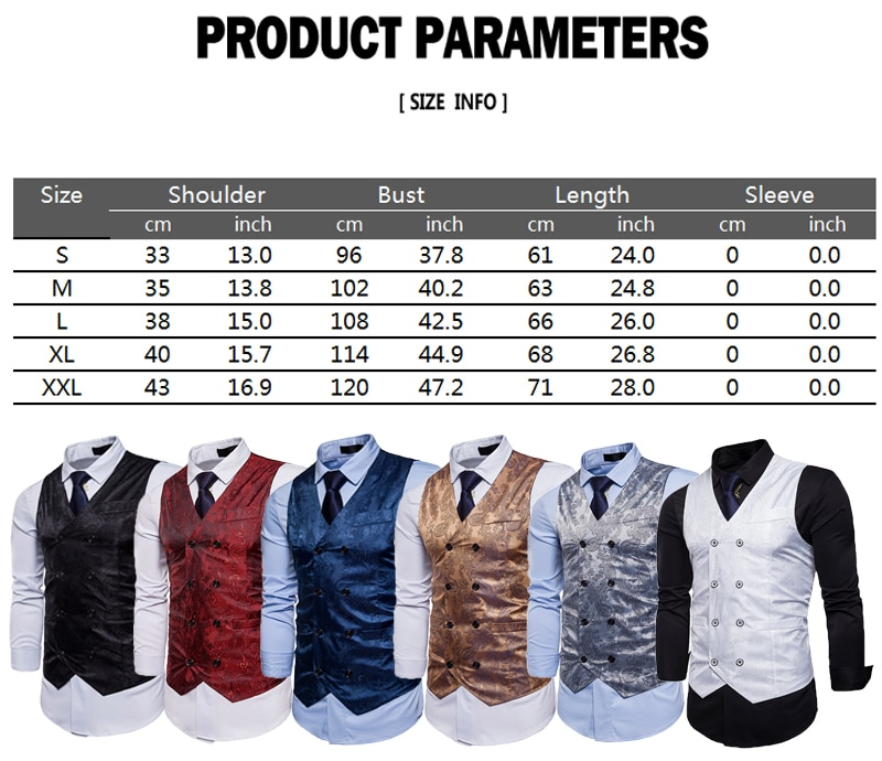New Vintage Mens Suit Vest Formal Business Wedding Party Tuxedo Waistcoat Jacket Coat Top Plus Size