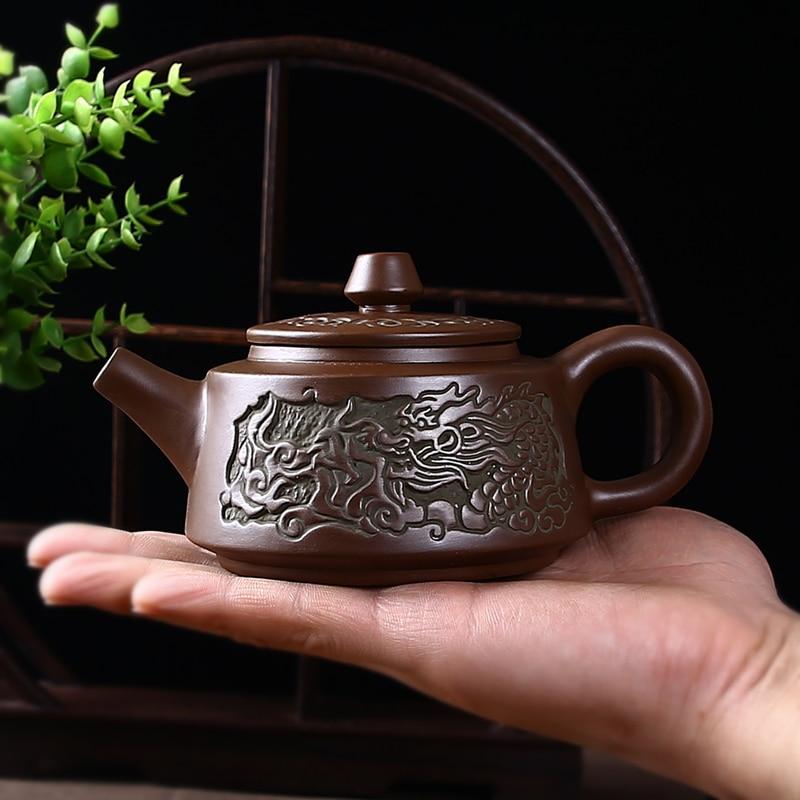 Artesanal de barro roxo conjunto chá yixing imitação bronze teaware drinkware chá pote copo conjunto chinês sala chá etiqueta suprimentos zm822