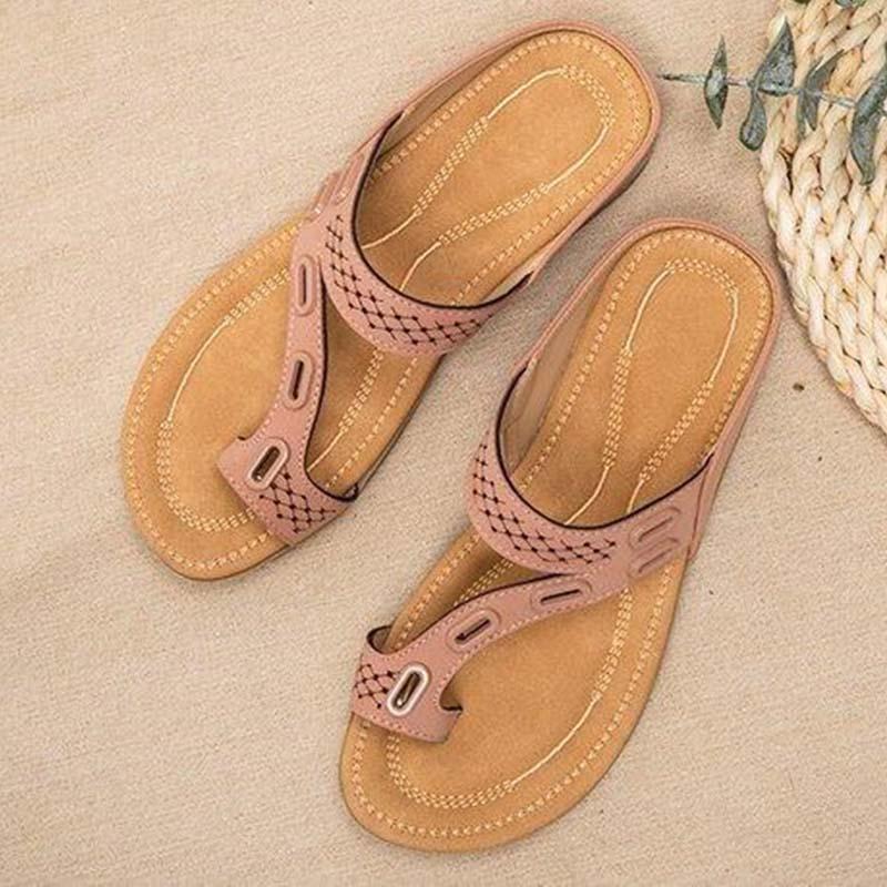 Sandali da donna scarpe da donna ortopediche Premium pantofola piatta sandali antiscivolo Vintage infradito da donna scarpe da donna taglie forti 43