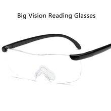 1,6 mal Vergrößerung Randlose Lesebrille für Männer Frauen Presbyopie Große Vision Lesen Kleine Drucke/Etiketten Dioptrien 250