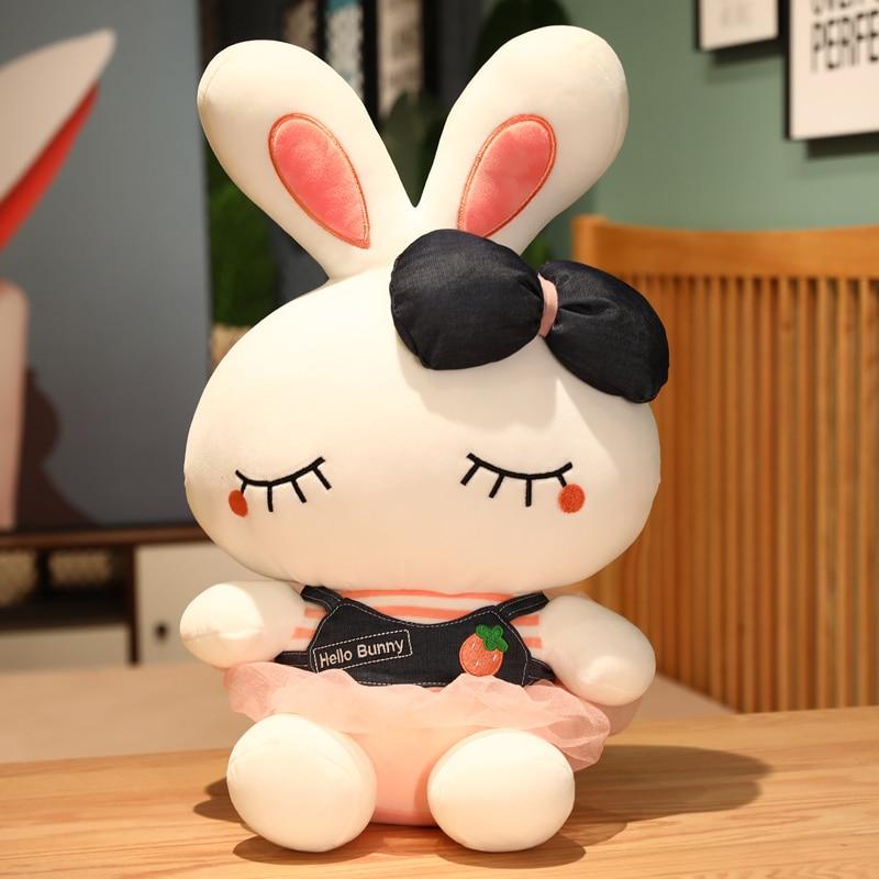 Милые Мультяшные мягкие куклы-кролики для детей, подарок, плюшевые животные, мягкие хлопковые детские игрушки, милая детская кукла для сна, ...