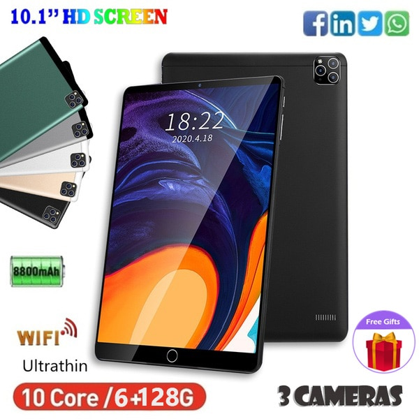 Tablette Android 10.1 Inch Tablets 32GB ROM 1280*800 HD Tablet WiFi PC Support Dual SIM Card