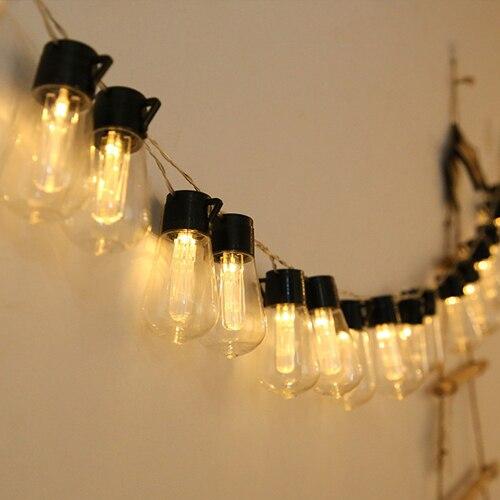 Светодиодная уличная гирсветильник Эдисона IP65, лампа накаливания для сада, патио, празднисветильник и Свадебное освещение, комнасветильни...