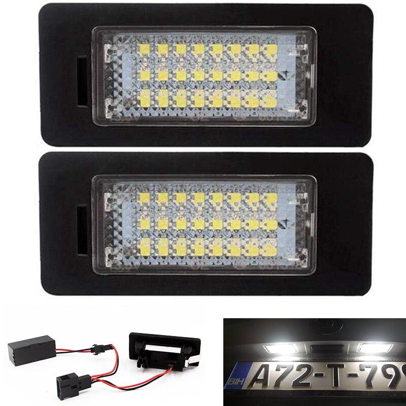 2Pcs 24SMD LED Number License Plate Light Fit for VW Golf 6 7 Variant Golf Plus Jetta 6 Passat B7 Variant Sharan 2 Touran