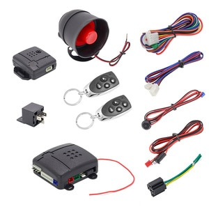 Универсальный 1 Автомобильный пульт дистанционного управления ЖК-дисплей двухполосная Автомобильная сигнализация автомобиля Системы защиты безопасности Системы Автозапуск Сирена + 2 пульта дистанционного Управление сигнализация системы защиты от взлома