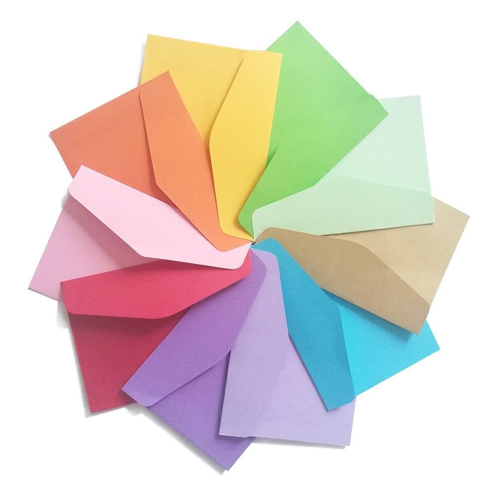 Sobre de colores tarjeta de membresía almacenamiento Rosa Bolsa De sobre creativo en blanco letra pequeña regalo de negocios sobre