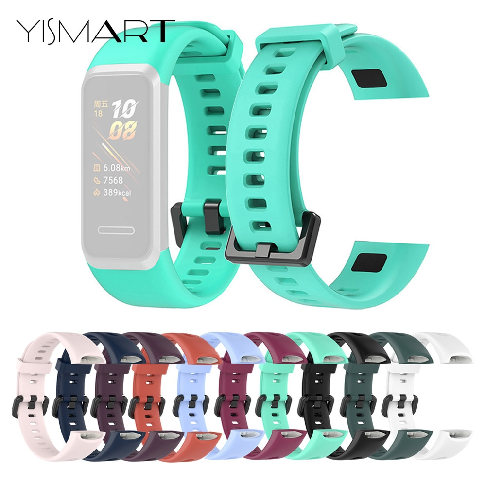For Huawei Band 4 Honor Band 5i Silicone Strap Sport Wrist Strap Soft Replacement Watch Band Smart Bracelet Accessories new replacement sport silicone for huawei band 6 watch band wrist strap adjustable watchband for huawei honor band 6 smart watch