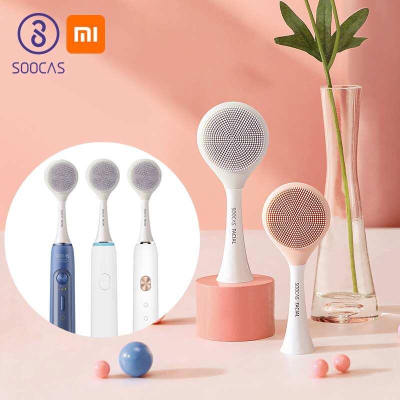 SOOCAS Facial Electric Cleansing Toothbrush Head Soocare Massage Brush for Xiaomi Soocas X1 X3 X3U X5 Sonic Electric Toothbrush