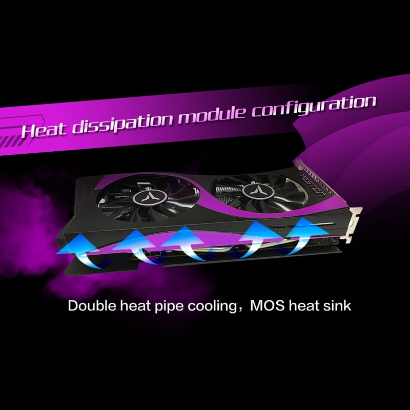 Yeston RTX2060-6G D6 GA 1365/1680MHz a 6G/192Bit/GDDR6 DVI-D + HDMI + DP PCI-Express 3,0 juegos, tarjeta