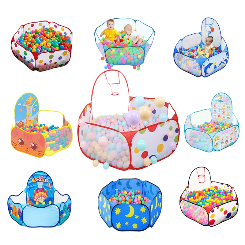 Play Tent Cartoon Ball Pit Pool Portable Foldable Children Outdoor Indoor Sports Educational Toy With Basket For Kids