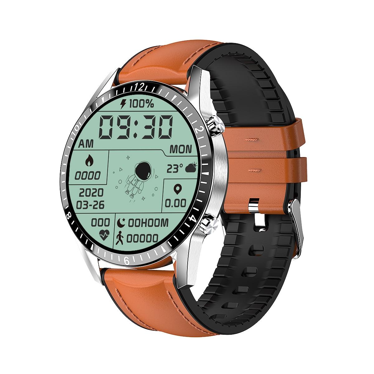 UNIWA I9 بلوتوث الهاتف ساعة ذكية الرجال النساء 1.3 بوصة HD كامل شاشة تعمل باللمس مقاوم للماء الرياضة اللياقة البدنية ساعة تعقب الصحة