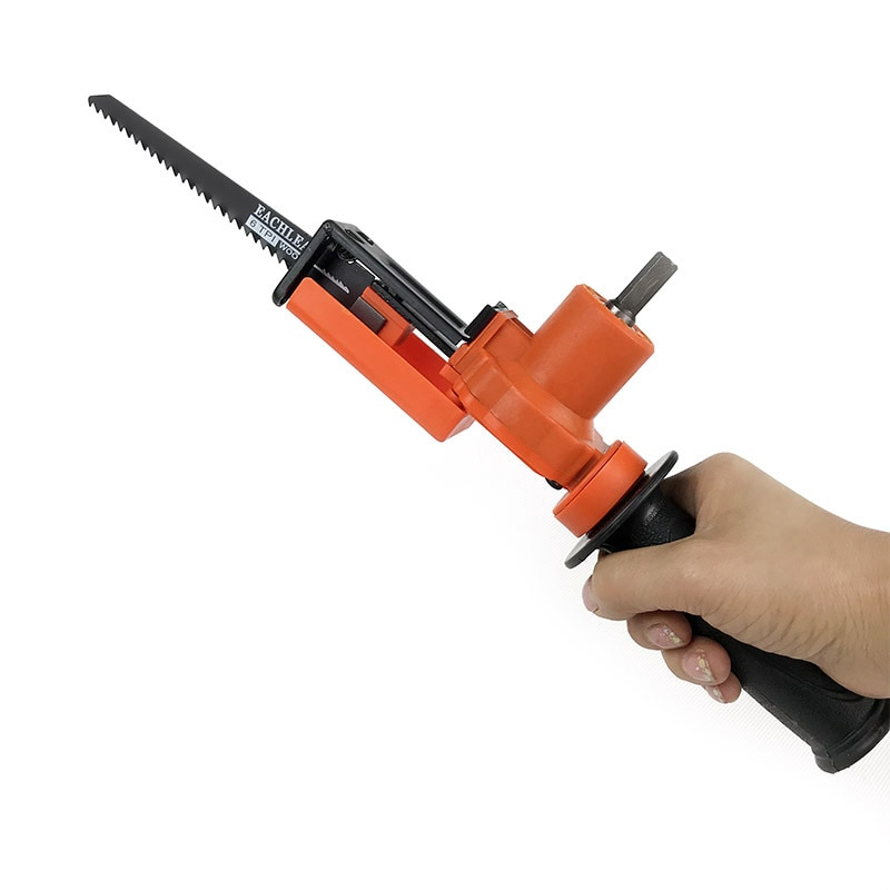 Reciprocating Saw Attachment Adapter Change Electric Drill Into Reciprocating Saw For Wood Metal Cutting enlarge