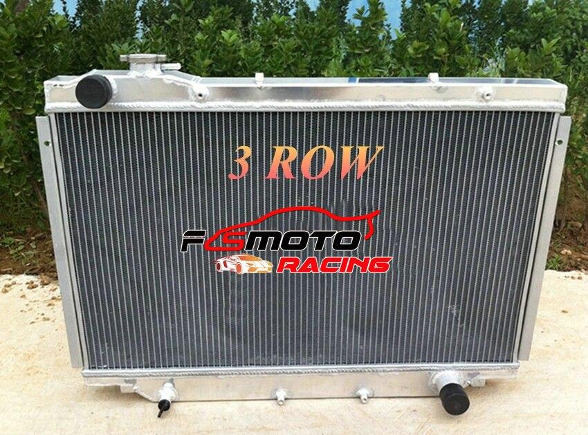 4 fila 56mm 3 fila radiador entero de aluminio para Toyota Landcruiser HDJ80 HZJ80 HZJ HDJ 80 MT