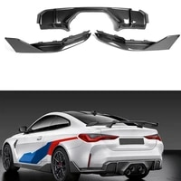 auto front skirt for bmw m3 m4 g80 g82 g83 modified mp front lip front shovel real carbon fiber rear lip wrap angle wind knife